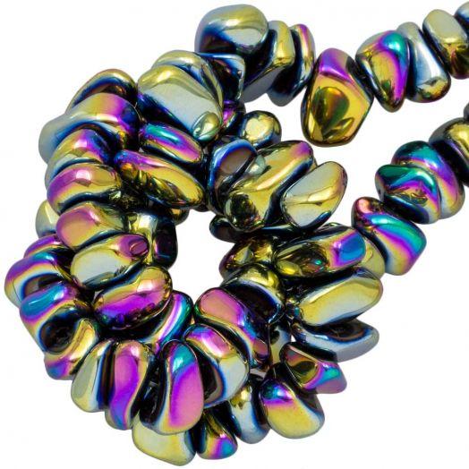 Hematite kralen (15 x 8~10 mm) Mix Color Electroplated (55 stuks)
