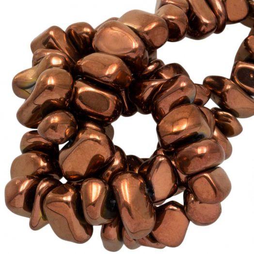 Hematite kralen (15 x 8~10 mm) Copper Electroplated (55 stuks)