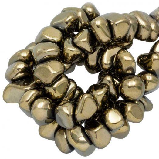 Hematite kralen (15 x 8~10 mm) Bronze Electroplated (55 stuks)