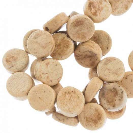 Kokos kralen (8 x 4 mm) Natural (50 Stuks)