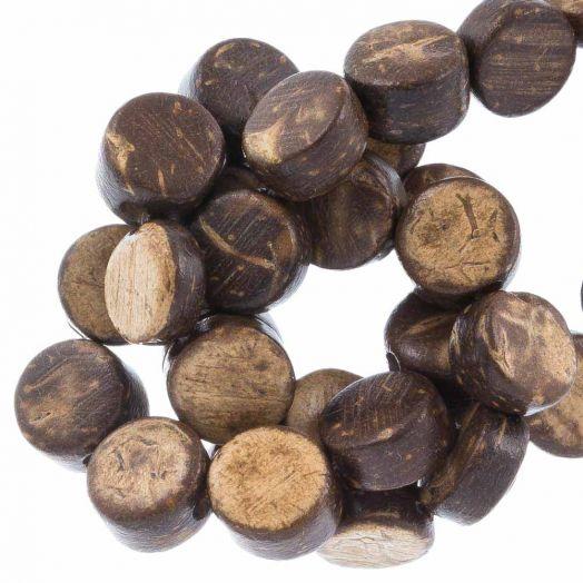 Kokos kralen (8 x 4 mm) Natural Brown (50 Stuks)