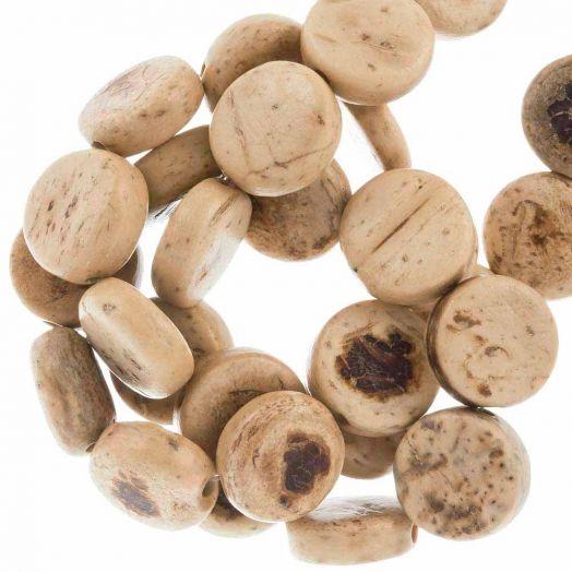 Kokos kralen (10 x 4 mm) Natural (40 Stuks)