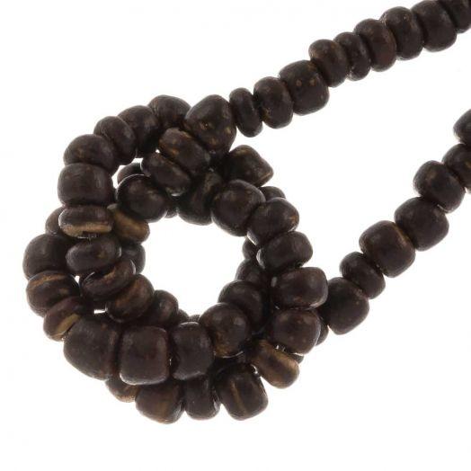 Kokos kralen (2 x 3 mm) Natural Brown (115 Stuks)