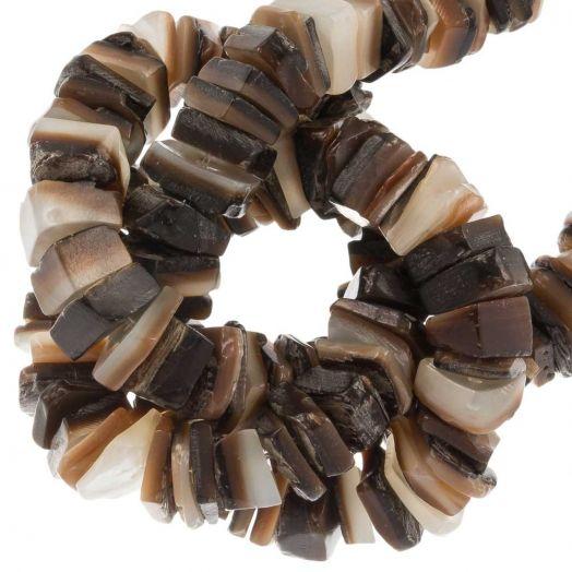 Schelp Kralen (7 - 8 mm) Brown Lip Shell (180 Stuks)