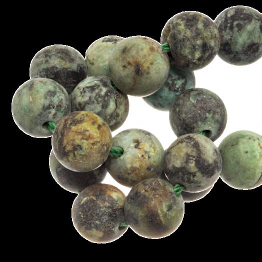 African Turquoise Frosted Kralen (4 mm) 95 Stuks