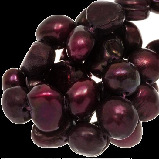 Zoetwaterparels (7-8 mm) Deep Red (50 Stuks)