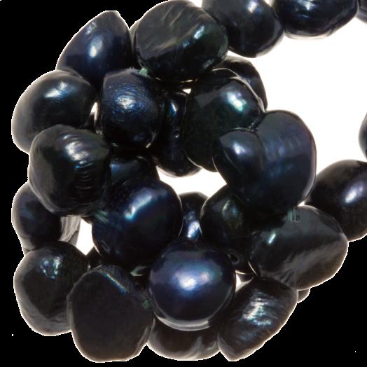 Zoetwaterparels (7-8 mm) Dark Blue (50 Stuks)
