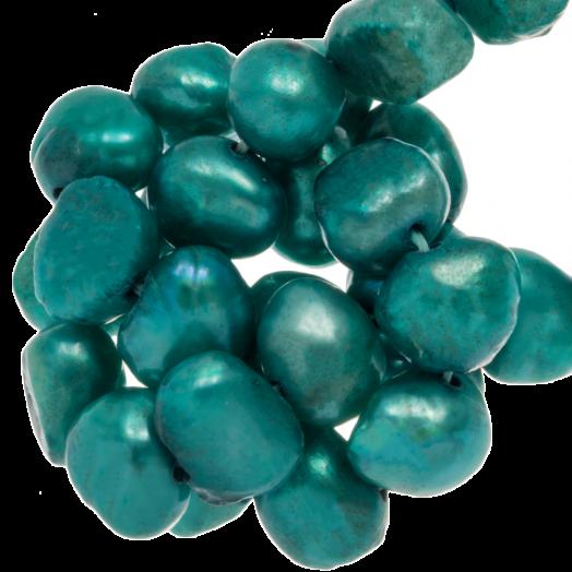 Zoetwaterparels (7-8 mm) Aqua Green (50 Stuks)