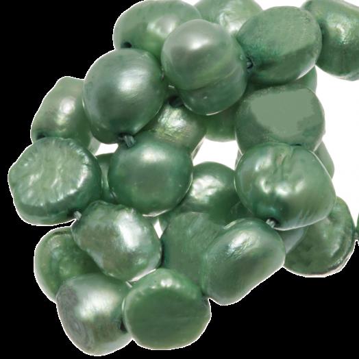 Zoetwaterparels (7-8 mm) Grass Green (50 Stuks)