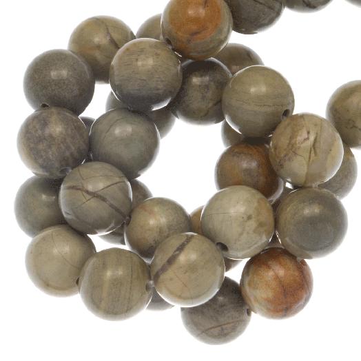 Silver Leaf Jasper Kralen (6 mm) 60 Stuks