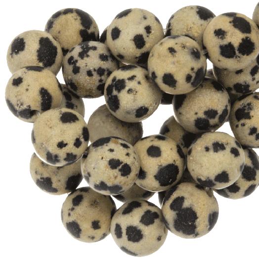 Dalmatian Jasper Frosted Kralen (4 mm) 88 Stuks