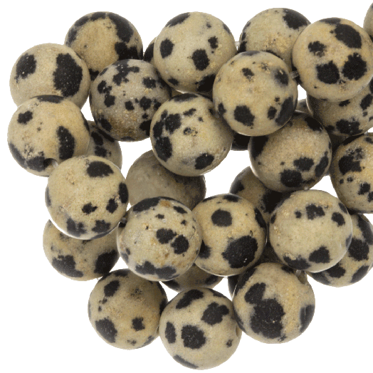 Dalmatian Jasper Frosted Kralen (10 mm) 39 Stuks