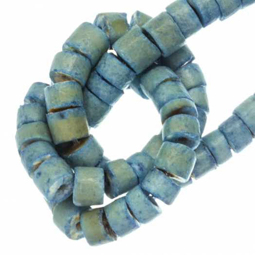 Kokos Kralen (4 - 5 mm) Oasis Blue (120 Stuks)