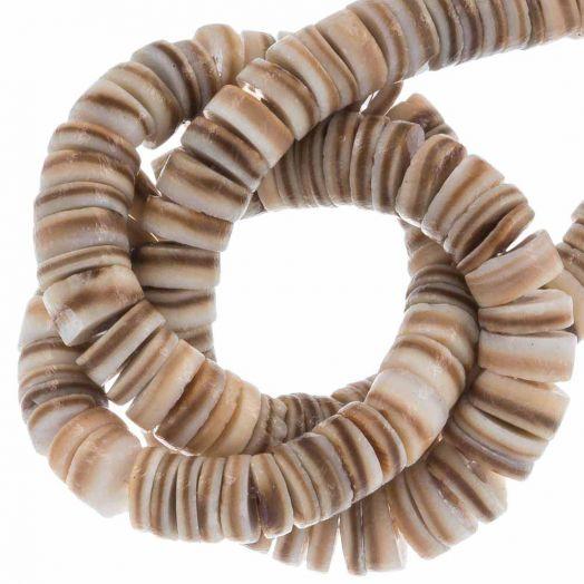Schelp Kralen (4 - 5 mm) Natural Brown Shell (165 Stuks)