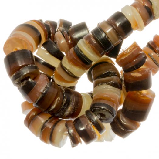 Schelp Kralen (2 - 3 mm) Brown Lip Shell (150 Stuks)