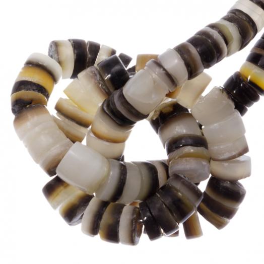Schelp Kralen (4 - 5 mm) Black Lip Shell (165 Stuks)