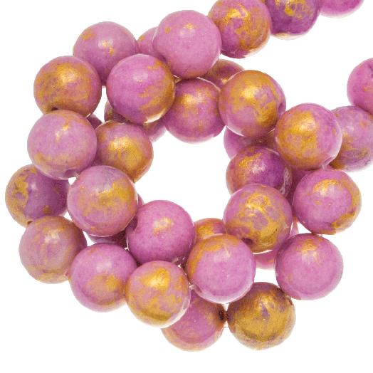 Mashan Jade Kralen (6 mm) Plum (63 stuks)