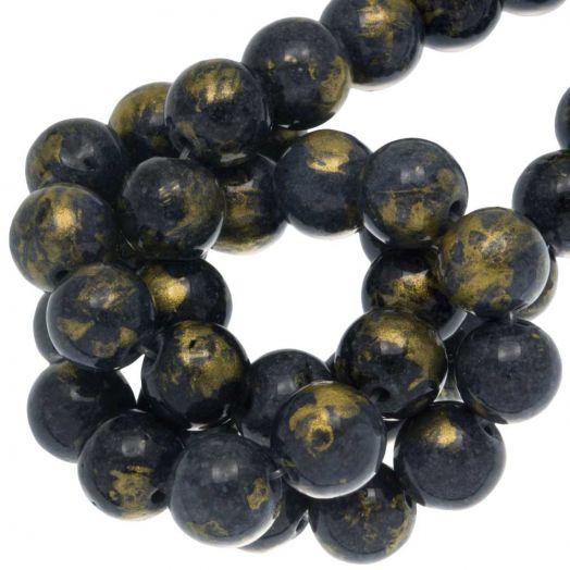 Mashan Jade Kralen (8 mm) Grey Blue (52 stuks)