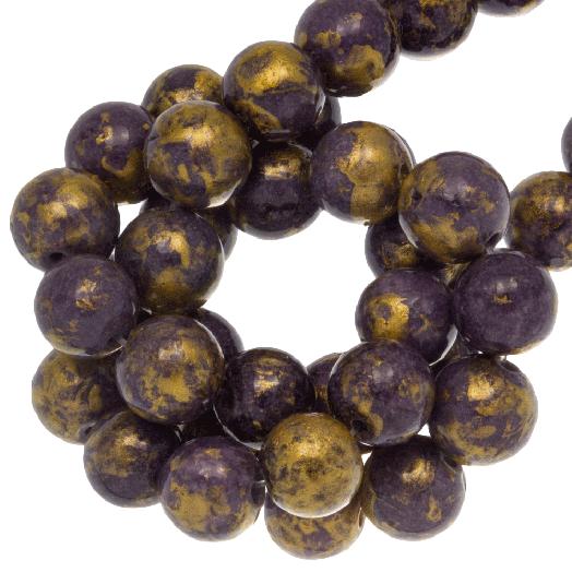 Mashan Jade Kralen (8 mm) Indigo (52 stuks)