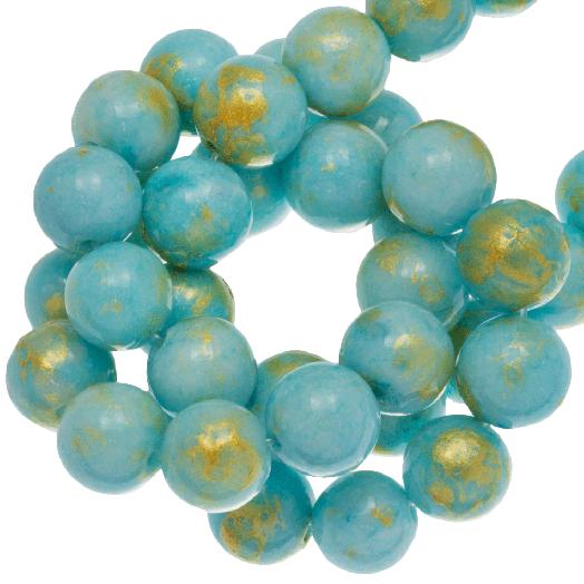 Mashan Jade Kralen (8 mm) Sky Blue (52 stuks)