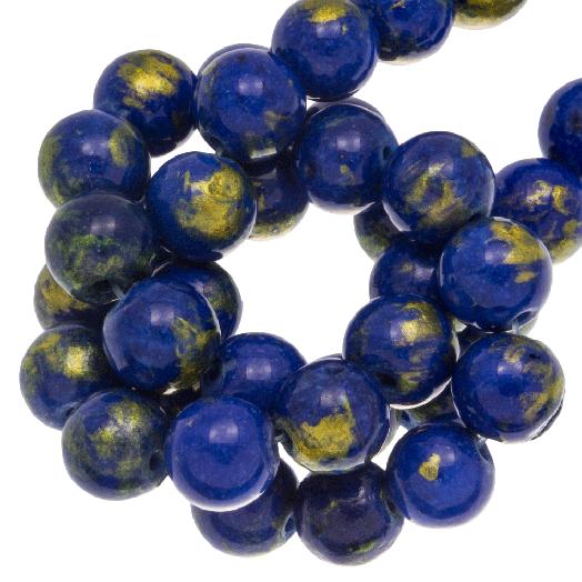 Mashan Jade Kralen (8 mm) Prussian Blue (52 stuks)