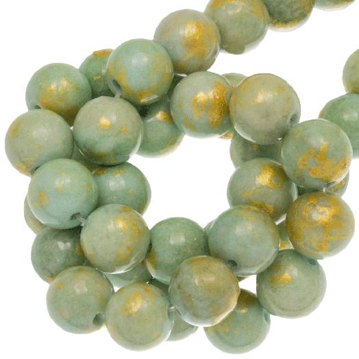 Mashan Jade Kralen (8 mm) Olive (52 stuks)
