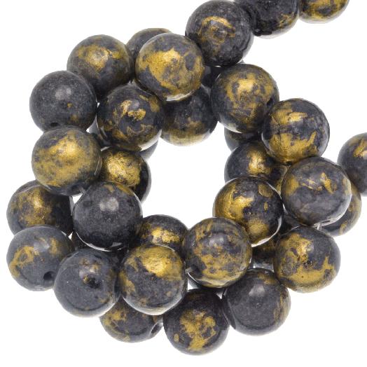 Mashan Jade Kralen (8 mm) Grey (52 stuks)