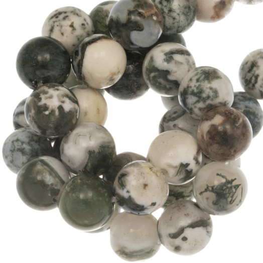Tree Agate Frosted Kralen (8 mm) 47 Stuks