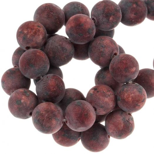 Labradorite Frosted Kralen (8 mm) Crimson (50 stuks)