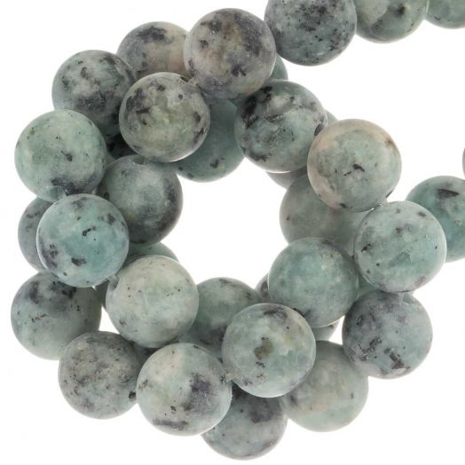 Labradorite Frosted Kralen (8 mm) Aquamarine (50 stuks)