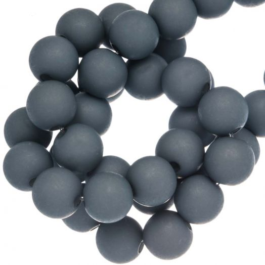 Acryl Kralen Mat (8 mm) Blue Grey (200 stuks)