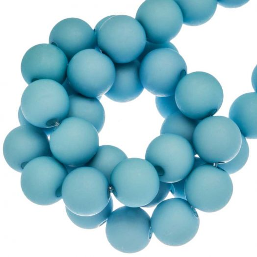 Acryl Kralen Mat (8 mm) Baby Blue (200 stuks)