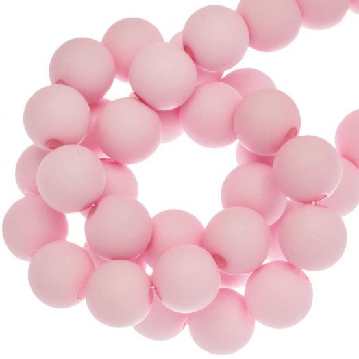 Acryl Kralen Mat (8 mm) Baby Pink (200 stuks)