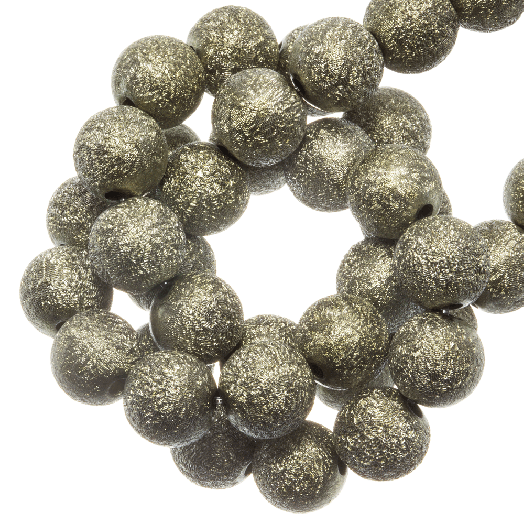Acryl Kralen Stardust (8 mm) Olive Green (180 stuks)