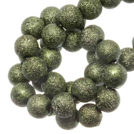 Acryl Kralen Stardust (6 mm) Crocodile Green (430 stuks)