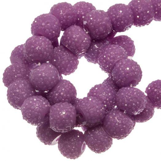 Acryl Kralen Rhinestone (8 mm) Purple (25 Stuks)