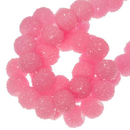 Acryl Kralen Rhinestone (8 mm) Pink (25 Stuks)