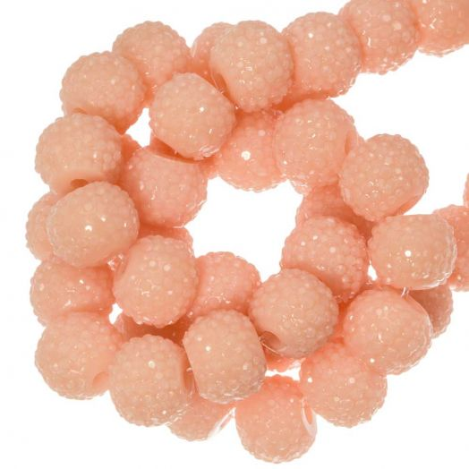 Acryl Kralen Rhinestone (8 mm) Light Peach (25 Stuks)