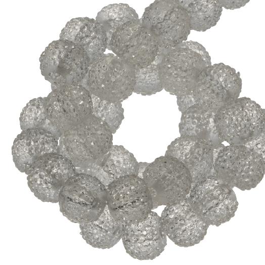 Acryl Kralen Rhinestone (8 mm) Transparent White (25 Stuks)