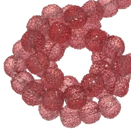 Acryl Kralen Rhinestone (4 mm) Transparent Rouge (45 Stuks)