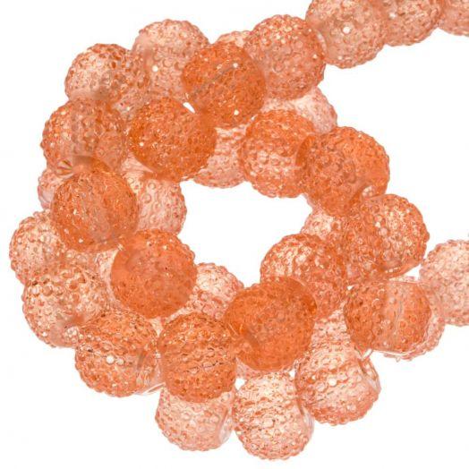Acryl Kralen Rhinestone (4 mm) Transparent Apricot (45 Stuks)
