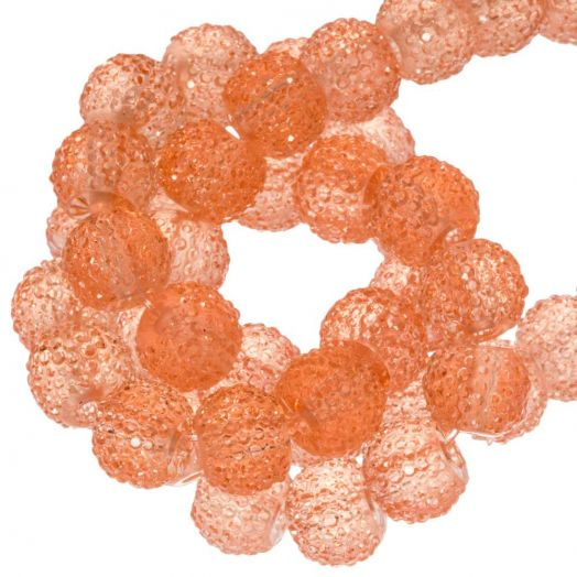 Acryl Kralen Rhinestone (8 mm) Transparent Apricot (25 Stuks)