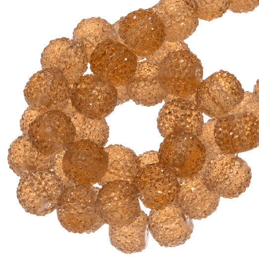 Acryl Kralen Rhinestone (6 mm) Transparent Orange (30 Stuks)