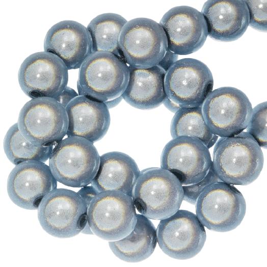 3D Kralen (8 mm) Blue Grey (90 stuks)