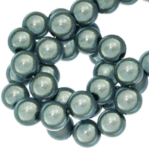 3D Kralen (8 mm) Dark Mint Blue (90 stuks)