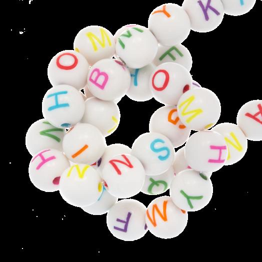 Acryl Letterkralen mix (7 x 8 mm) Mix Color (200 stuks)