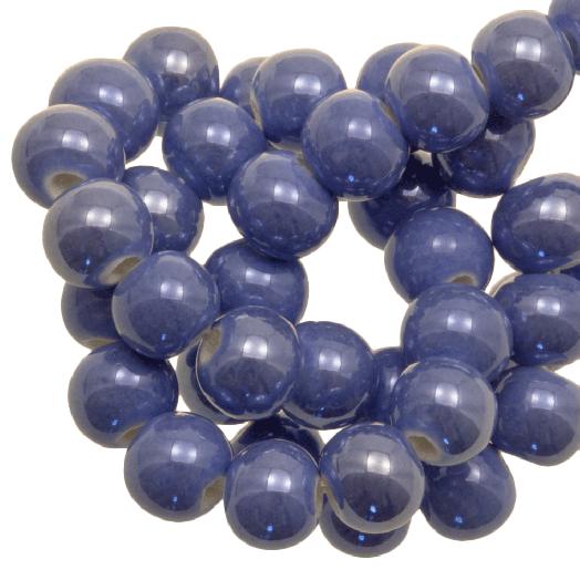 Keramiek Kralen (6 mm) Denim Blue (25 Stuks)
