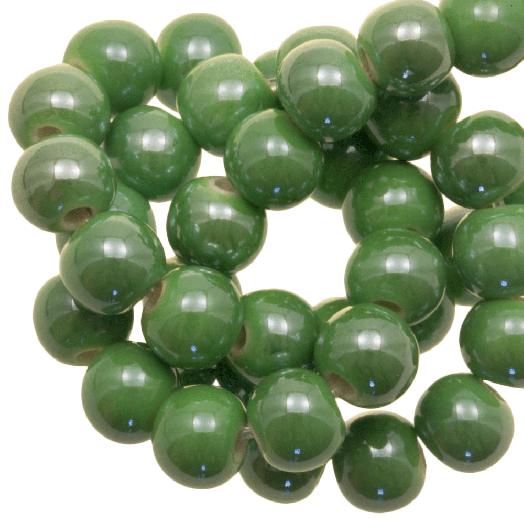 Keramiek Kralen (6 mm) Green (25 Stuks)
