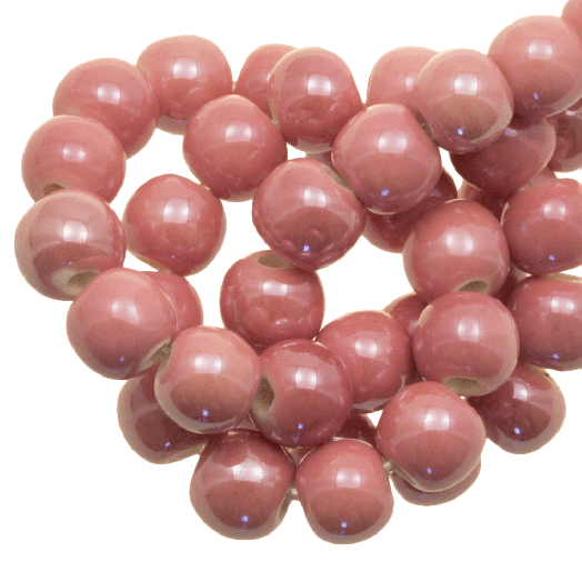 Keramiek Kralen (6 mm) Light Pink (25 Stuks)
