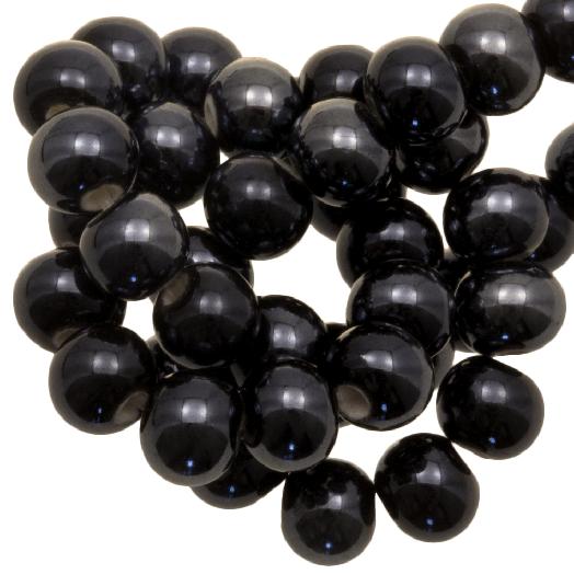 Keramiek Kralen (6 mm) Black (25 Stuks)